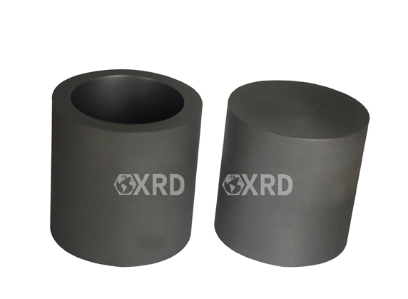 Cylindrical graphite crucible